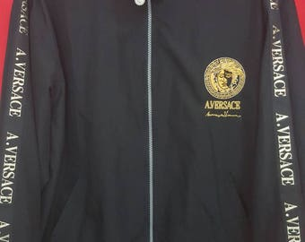 Vintage Versace A.Versace Jacket Black Colour Large Size