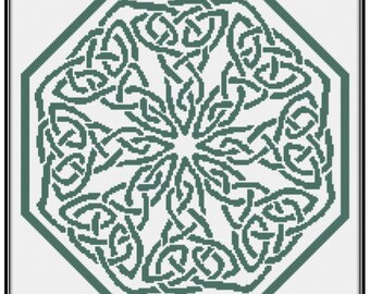 Knotwork Octagon (PDF) Cross Stitch Pattern