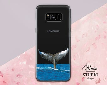 Whales Whale tail print Ocean animals Ocean case Whale case Personalized Galaxy note 8 case Galaxy 7 edge case s8 plus phone case Samsung A3