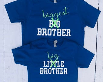 Big Brother, Biggest Brother, sibling shirts, pregnancy announcement shirts