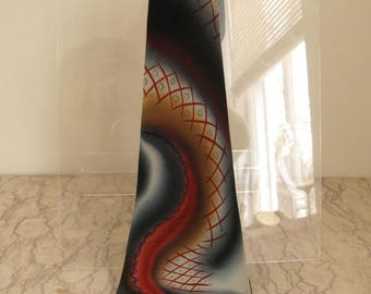 vintage 1940's hand-painted silk tie
