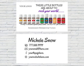 Essential Oils Business Card | Calling Card, Card Business Design, Personalized Business Card, YL Business Card, YL Marketing, Essential Oil