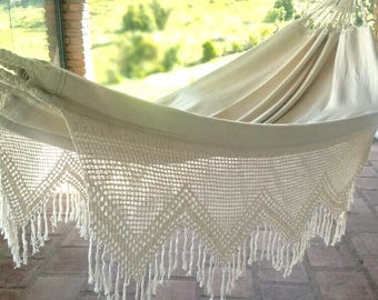 luxury hammockking sizewhite hammock bridesmade gift wedding decoration indoor hammocks  u0026 swings   etsy ca  rh   etsy