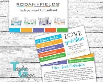 Rodan + Fields Business Card - R + F Mini Facial Card - R + F Marketing kit - Rodan and Fields Business Card - Rodan and Fields Punch Card