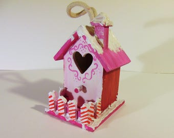 Candy Cane House Christmas Ornament