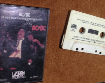 AC/DC - If You Want Blood You've Got It audio cassette tape