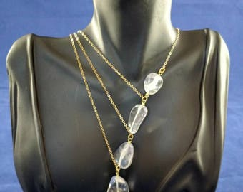 Clear Cascade Necklace