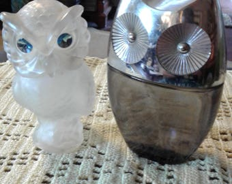 A Snow Owl and A Wise Choice Owl by AVON.