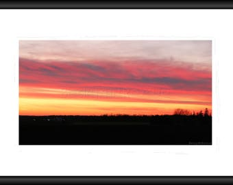 Pink Sunset, Photography, Free Shipping, Print, Framed Print, Canvas Wrap, Canvas with a floating Frame, Wall Art, Home Design, Landscape