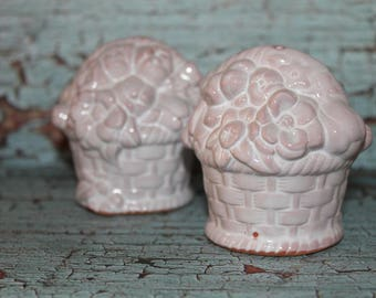 Basket of Flowers salt and pepper shakers