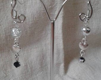 "Earrings ""Silver small heart"""