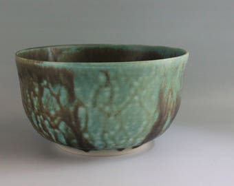 Teal and Brown Bowl