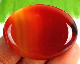 Sardonyx Onyx Agate Cabochon Orange Red Onyx Oval CAB Cabochon 40x30x7mm
