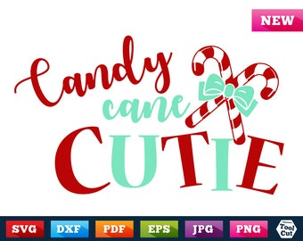 Candy Cane Cutie Svg Christmas Svg Christmas Candy Svg Christmas Cuttable Files For Girls Merry Christmas Vinyl Silhouette Svg Dxf Cricut
