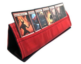 Red Collapsible Card Stand