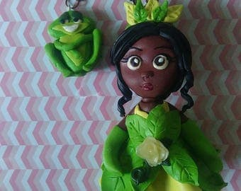 Chibi Disney Princess - Tiana and her frog