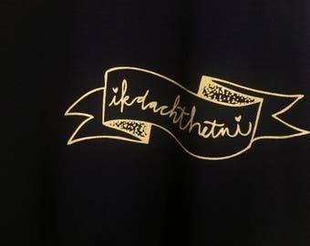 DACHTHETNI uniseksie XS shirt black