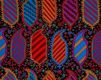 KAFFE FASSET HERALDIC BLACK PATCHWORK fabric