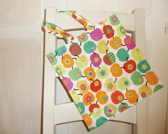 Shopping bag bags bag pouch fabric bag Retro apple