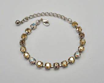 6mm Swarovski Crystal Bracelet Platinum Plated