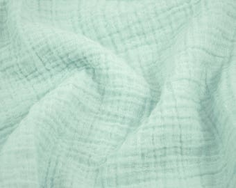 """10 yards Mint Green - Sunny Double Gauze Fabric - 100% cotton muslin swaddle fabric, 52"""" wide"""