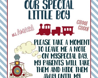 Time Capsule Sign, First Birthday, Train Birthday, Train Party, Train Decor, Train Decorations, Train Birthday Party, Choo Choo Party