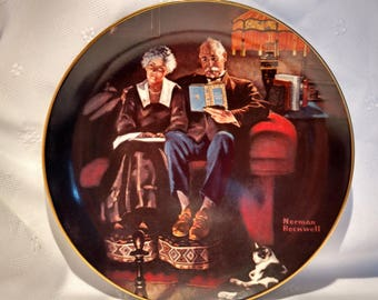 1983 Evening's Ease by Norman Rockwell Rockwell's Light Campaign Collection Collector Plate with COA #15474D