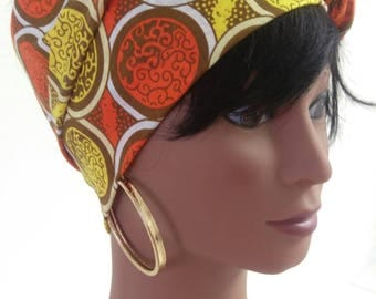 African colourful head wrap