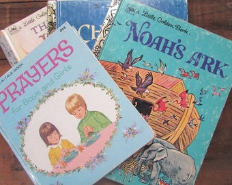 Little Golden Book Bible Stories Prayers for Boys and Girls Tell A Tale Noah's Ark Jonah Christmas Story