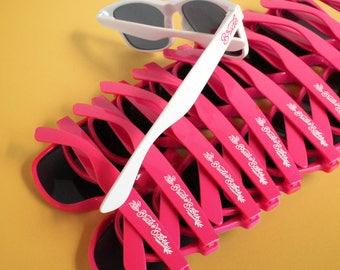 BridesBabes Bachelorette Sunglasses Pack | Hot Pink | Bachelorette Sunnies Wedding Sunglasses | Girl's Night | Bride Sunglasses | Bach Bash