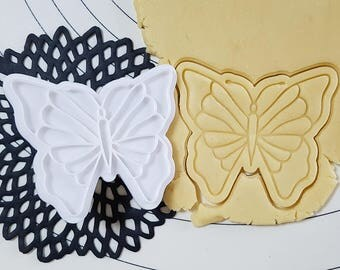 Yellow Swallowtail Butterfly Cookie  Cutter and Stamp