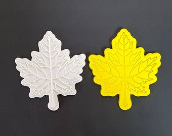 Canadian Maple Leaf  Cookie Cutter and Stamp