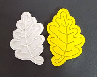 Oak Leaf  Cookie Cutter and Stamp
