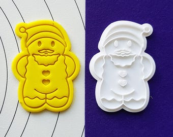 Gingerbread Santa Cookie Cutter and Stamp