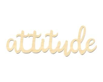 Attitude Sign- Attitude Wording Sign- Attitude Script Wording Sign