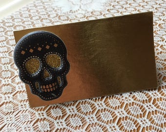 Skull place cards, Skulls placecards, skull party theme, food labels, food tents, seat cards, skeleton name cards-5/order