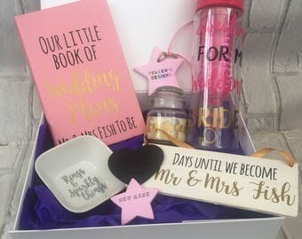 Personalised engagement gift box