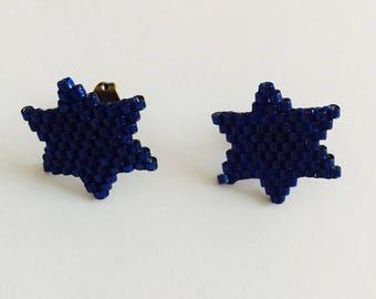 Earrings Navy Blue Star earrings