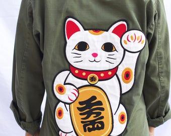 Maneki Neko Army Jacket
