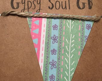 Paper bunting, children's bunting, garland, party decoration,