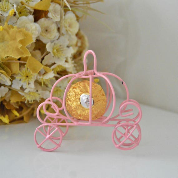 Cinderella Pumpkin Carriage Wedding Favor Box Idea Decorations Candle Holder Princess Baby Shower