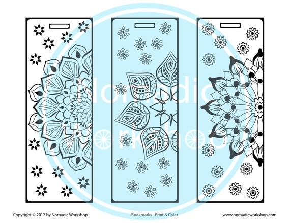 Bookmark 12 – Color Mandala Bookmark DIY Handmade drawings ...