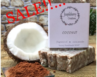 Handmade Soap. Coconut Fragrance. Cocoa Powder. 140g +