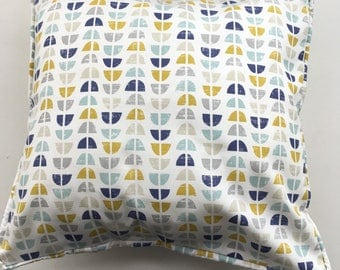 Scandi style print cushion cover