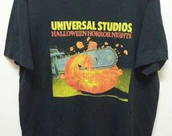 Vintage 90's Halloween Horror Nights T - shirts  Horror Movie shirts XLarge Made in Usa Anime / Animation / Japanese Animation