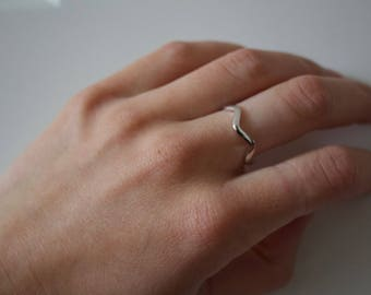 Smooth Sailing Wave Silver Ring