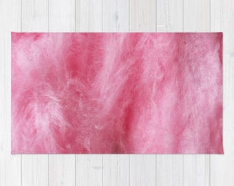 Birthday Collection: Pink Rug, Pink Cotton Candy Rug, Pink Girl Bedroom Rug,
