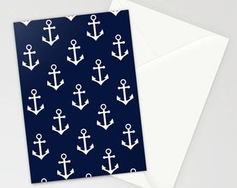 Nantucket Summer Collection: Nautical Stationary, Navy Blue Stationary, Ocean Stationary, Nautical Card, Nautical Theme Gift, Sailing Card
