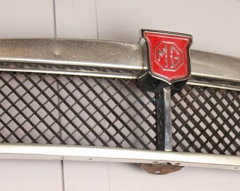 Vintage MG Front Grill, c1970s, classic car grill, Wall Decoration