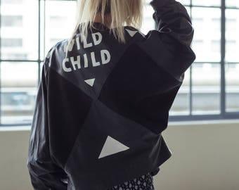 Stay Wild Child - Embellished Vintage Jacket